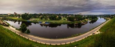 River Neman in city Grodno Stock Photography