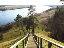 View from Rambynas hill in river Nemunas, Lithuania Royalty Free Stock Image