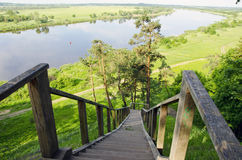 River Nemunas in Lithuania near Rambynas hill Royalty Free Stock Photography
