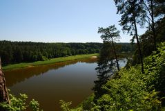 River Nemunas Royalty Free Stock Photos