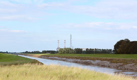 River Nene at low tide in Cambridgeshire Royalty Free Stock Image