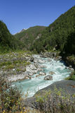 River from nepal in everest  trek Royalty Free Stock Image