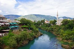 River Neretva in Mostar Royalty Free Stock Photography
