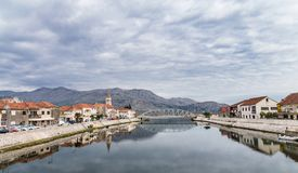 Opuzen city 2. River Neretva, Opuzen city, Croatia Stock Image