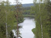 River Neris in Lithuania. At summer time Royalty Free Stock Image