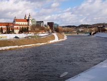 River Neris in Vilnius center Royalty Free Stock Photos