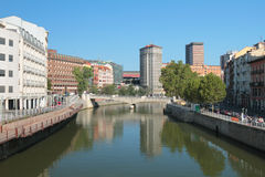 River Nervion in Bilbao, Spain Royalty Free Stock Photos