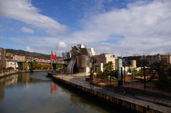 River Nervion  and Guggenheim. Stock Photography