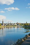 River Ness on an Autumn day. Inverness on a pleasant Autumn day with churches,  River Ness and the historic Castle Royalty Free Stock Photos