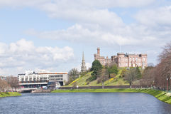 River Ness and castle Stock Photography