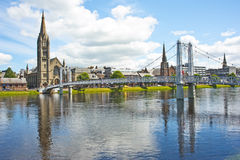 River Ness: fishing river. Royalty Free Stock Photos