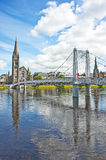 River Ness and Greig Street Bridge. . Royalty Free Stock Photo