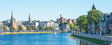 River Ness and Inverness Castle Royalty Free Stock Photo