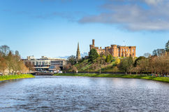 River Ness and Inverness Skyline Stock Photos