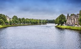 River Ness Runs Through Inverness, Scotland royalty free stock images