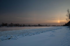 River Neva in ice Royalty Free Stock Photos