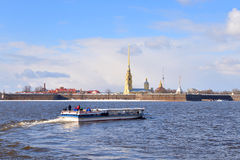 River Neva and Peter and Paul Fortress. Stock Photos