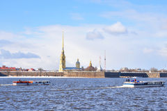 River Neva and Peter and Paul Fortress. Royalty Free Stock Photography