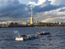 River Neva, Saint-Petersbourg, Russia Royalty Free Stock Image