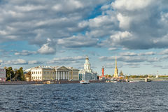 The river Neva and St. Petersburg in the summer Royalty Free Stock Photos