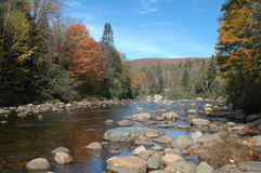 River in New Hampshire. A river in the White Mountains of New Hampshire on a sunny autumn day stock images