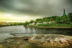 River Nidelva, Trondheim, Norway Stock Images