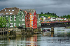 River Nidelva, Trondheim, Norway Stock Photos