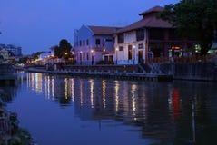 River at night Royalty Free Stock Photography