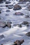 River at night royalty free stock photos