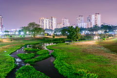 River at Night. Bishan Park river, one of most popular river at singapore Stock Image