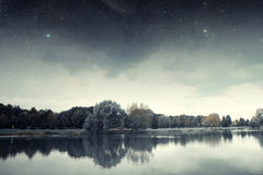 River at night. Stock Images