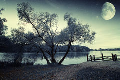 River at night. Royalty Free Stock Image