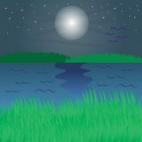 River at night Royalty Free Stock Image