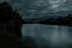 River at night Stock Photography