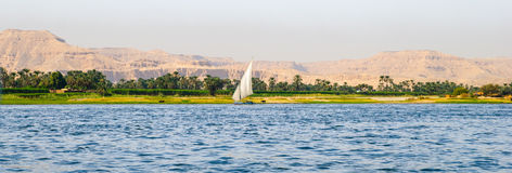 River Nile. Views of the River Nile in Luxor, Egypt Stock Image