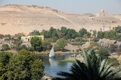 River Nile with ancient city of Philae Royalty Free Stock Photography