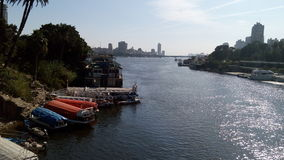 The River Nile at Cairo royalty free stock photography