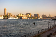 River Nile in Cairo city Stock Photography