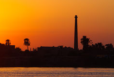 River Nile at Dusk Royalty Free Stock Photos