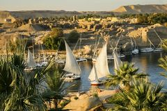 Free River Nile In Aswan, Egypt Stock Photos - 139084753