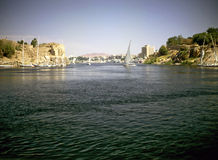 River Nile in Luxor, Egypt Royalty Free Stock Images