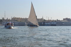 The River Nile. The main waterway of Egypt. Beautiful Egypt. The ancient civilizations. The River Nile. The main waterway of Egypt Royalty Free Stock Photography