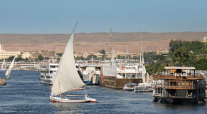 The River Nile a popular place to Cruise in Egypt , 2008 Royalty Free Stock Photo