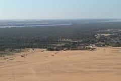 The river Nile in the Sahara desert in Sudan Royalty Free Stock Photo