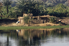 River Nile scenery between Aswan and Luxor Stock Photos