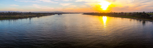 River Nile at sunset Stock Photo