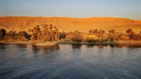 River Nile before sunset stock photography