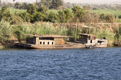 A river Nile work boat Stock Photo