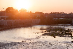 The river Nisava in magic hour Royalty Free Stock Image