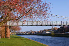 River Nith suspension bridge, Dumfries royalty free stock photos